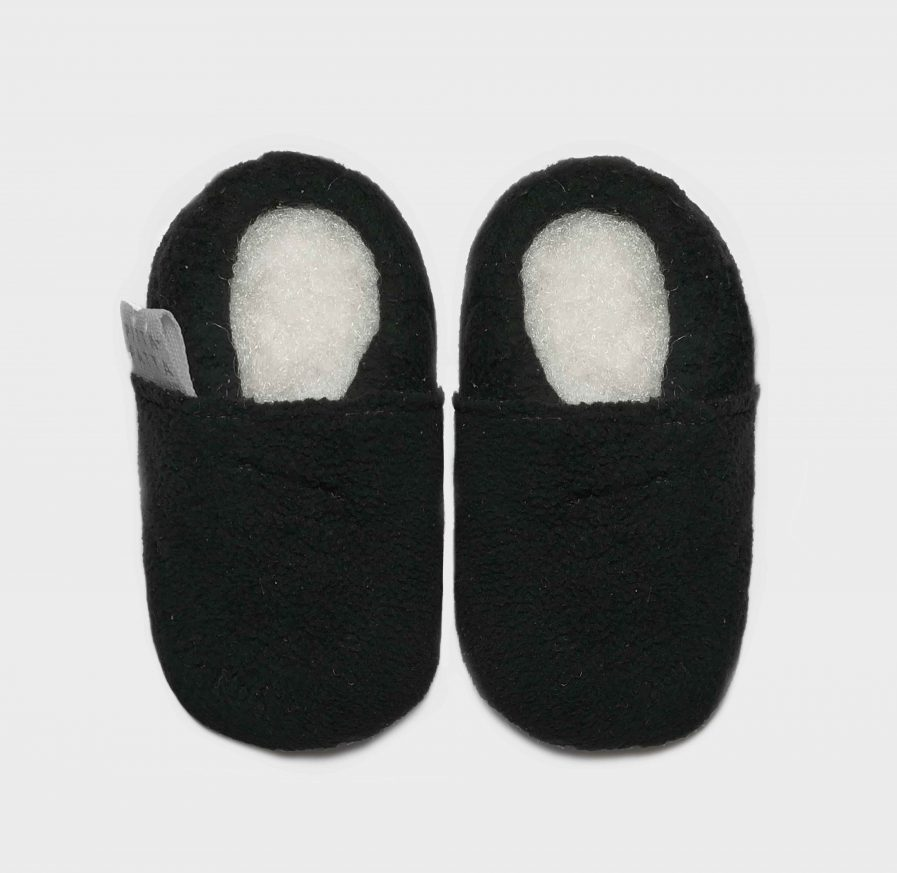 slipper fleece charcoal S