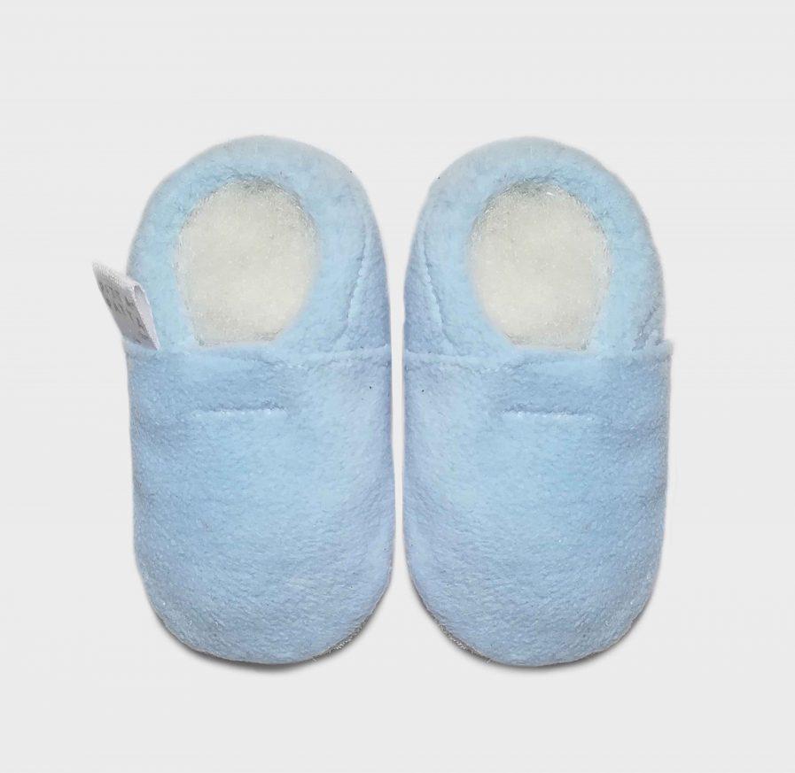 slipper fleece light blue S