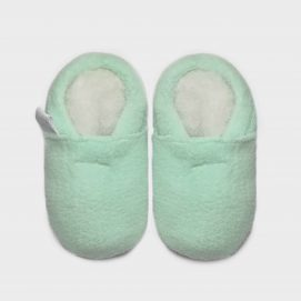 slipper-fleece-mint-S
