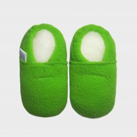 slipper-fleece-green-S