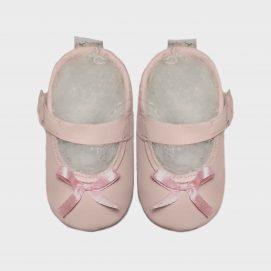 mary jane satin bow princess pink c.