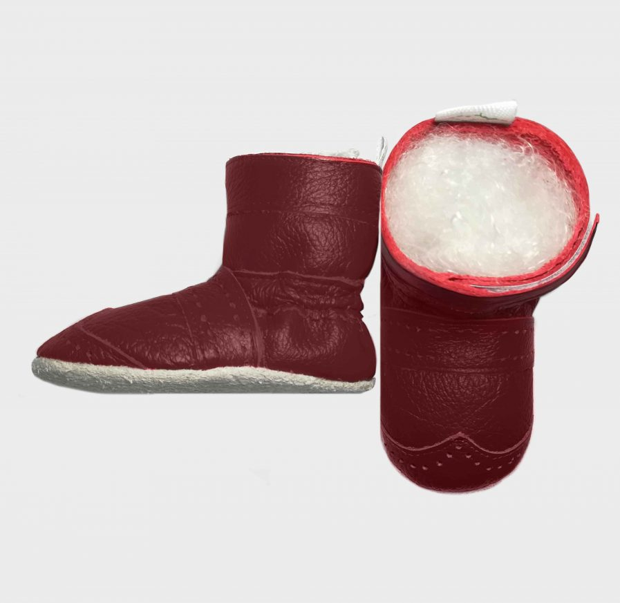boot little bo red c side