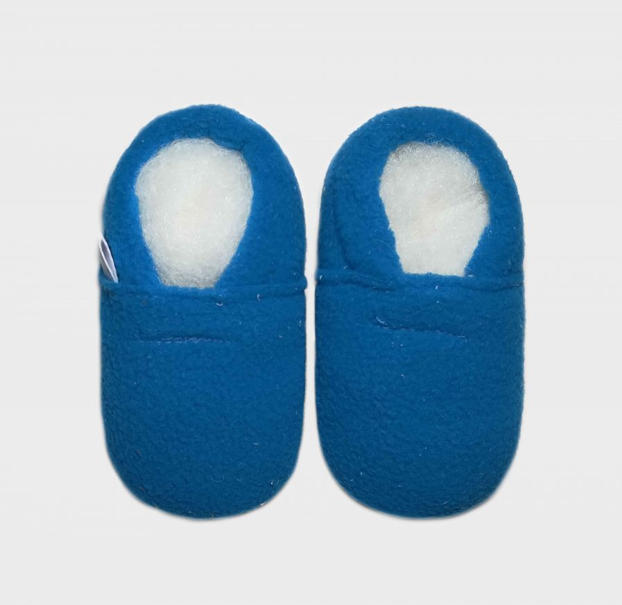 slipper fleece mid blue