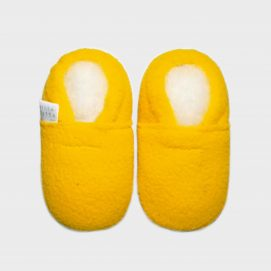 slipper-fleece-yellow