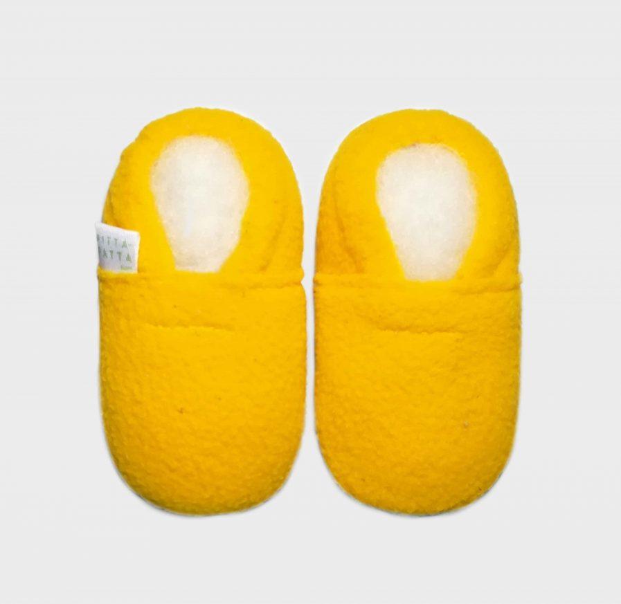 slipper fleece yellow