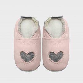 Fabric heart pink