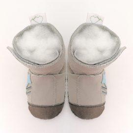 boot combat light grey