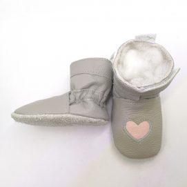 boot heart light grey