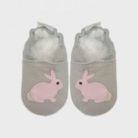 bunny light grey and princess pink