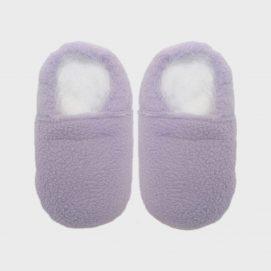 slipper fleece lilac